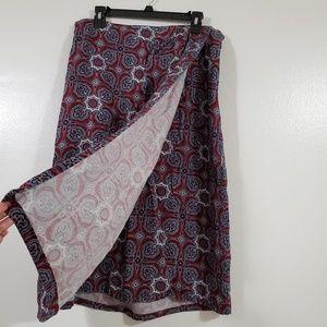ELISABETH By Liz Claiborne Wrap Maxi-Midi Skirt